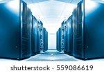 symmetrical data center room... | Shutterstock . vector #559086619