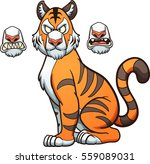cartoon tiger with different... | Shutterstock .eps vector #559089031