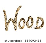 the word wood filled with... | Shutterstock . vector #559093495