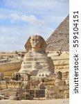Sphinx And Giza Pyramids In...