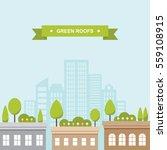roof garden buildings cityscape ... | Shutterstock .eps vector #559108915