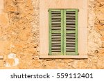 green window shutters and... | Shutterstock . vector #559112401