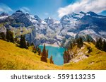 panorama of the azure pond... | Shutterstock . vector #559113235