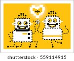 the robot does the robot offer. ... | Shutterstock .eps vector #559114915