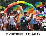 tel aviv   june 11  annual gay... | Shutterstock . vector #55912651