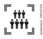 people  icon vector. flat... | Shutterstock .eps vector #559127221
