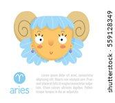 aries cute zodiac sign... | Shutterstock .eps vector #559128349