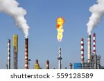 smoke stacks and combustion gas ... | Shutterstock . vector #559128589