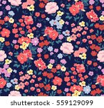 Stock vector trendy seamless floral pattern in vector 559129099