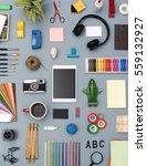 creative flat lay responsive... | Shutterstock . vector #559132927
