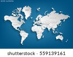 political map of the world.... | Shutterstock .eps vector #559139161