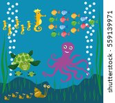 aquarium sea ocean fish... | Shutterstock .eps vector #559139971