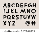 vector black handwritten... | Shutterstock .eps vector #559142059