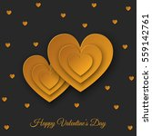 happy valentines day  black... | Shutterstock .eps vector #559142761