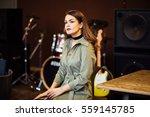 beautiful woman in stylish... | Shutterstock . vector #559145785