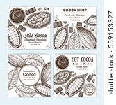 banner set for cocoa shop.... | Shutterstock .eps vector #559153327