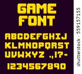 Pixel Retro Video Game Font. 8...