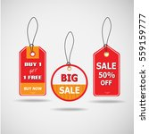 pack of price tag vector  | Shutterstock .eps vector #559159777