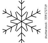 simple snowflake figure in... | Shutterstock .eps vector #559172719