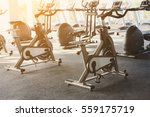 modern gym interior with... | Shutterstock . vector #559175719