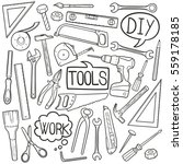 tools repair doodle icons | Shutterstock .eps vector #559178185
