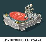 turntable illustration. vector... | Shutterstock .eps vector #559191625