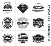 car logos  retro style vevtor... | Shutterstock .eps vector #559192621