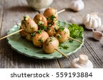 vegetable skewers with... | Shutterstock . vector #559193884