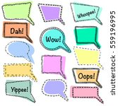 set of vector hand drawn speech ... | Shutterstock .eps vector #559196995