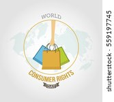 world consumer rights day... | Shutterstock .eps vector #559197745