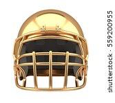 golden american football helmet ... | Shutterstock . vector #559200955