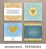wedding invitation card or... | Shutterstock .eps vector #559206361