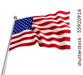 american usa 3d flag on white... | Shutterstock . vector #55920916