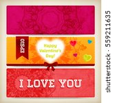 wedding invitation card or... | Shutterstock .eps vector #559211635