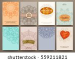 wedding invitation card or... | Shutterstock .eps vector #559211821