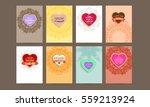 wedding invitation card or... | Shutterstock .eps vector #559213924