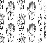 pattern fashion hands hamsa... | Shutterstock .eps vector #559214677