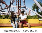 family holiday vacation... | Shutterstock . vector #559215241
