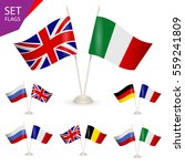 set   table stand with flags.... | Shutterstock .eps vector #559241809