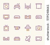 home appliance web icons set | Shutterstock .eps vector #559248661