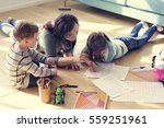 family spend time happiness... | Shutterstock . vector #559251961
