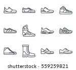 men shoes and sneakers sneakers ... | Shutterstock .eps vector #559259821