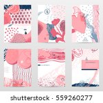 set of abstract stylized... | Shutterstock .eps vector #559260277