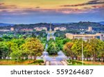 view along kings avenue towards ... | Shutterstock . vector #559264687