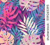 summer exotic floral tropical... | Shutterstock .eps vector #559265395