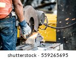 technician or mechanic using... | Shutterstock . vector #559265695