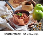 homemade apple chutney with... | Shutterstock . vector #559267351