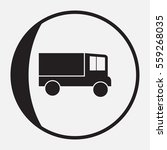 delivery truck icon on white...