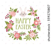 vector easter card with bunny... | Shutterstock .eps vector #559270807