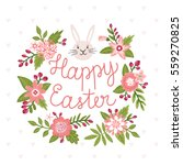 vector easter card with bunny... | Shutterstock .eps vector #559270825